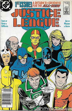 Justice League #1 $1.00 Canadian Price Variant Comic Book Picture