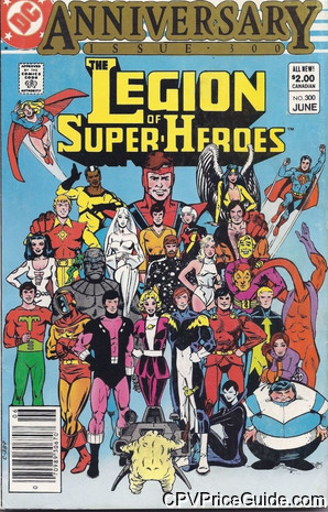 legion of super heroes 300 cpv canadian price variant image