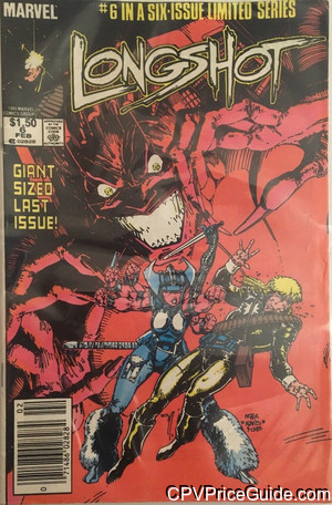 Longshot #6 $1.50 Canadian Price Variant Comic Book Picture