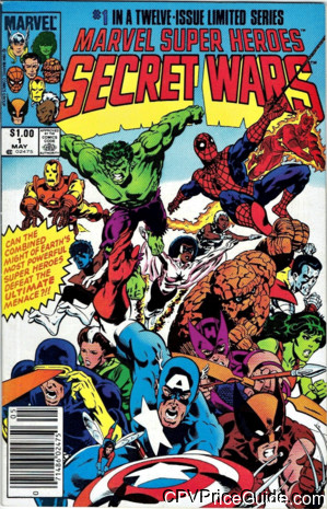 Marvel Super Heroes Secret Wars #1 $1.00 Canadian Price Variant Comic Book Picture