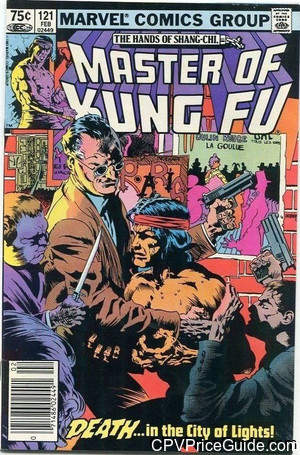 Master of Kung Fu #121 75¢ Canadian Price Variant Comic Book Picture