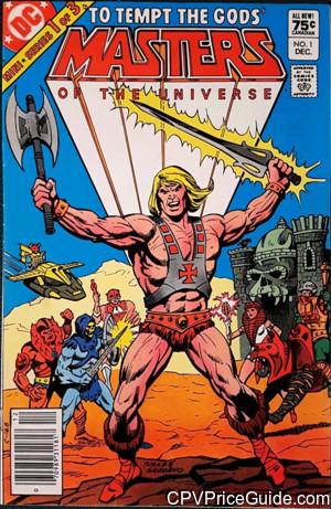 Masters of the Universe Limited Series #1 75¢ Canadian Price Variant Comic Book Picture
