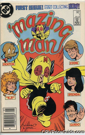 'mazing Man #1 95¢ Canadian Price Variant Comic Book Picture