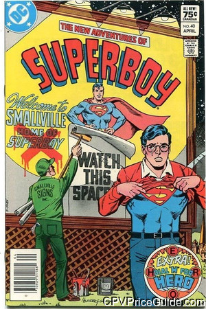 new adventures of superboy 40 cpv canadian price variant image