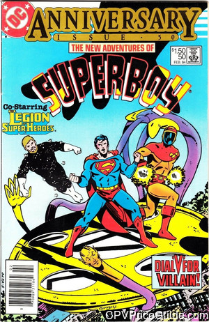 New Adventures of Superboy #50 $1.50 Canadian Price Variant Comic Book Picture