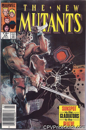 New Mutants #29 75¢ Canadian Price Variant Comic Book Picture