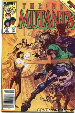 New Mutants #30 75¢ Canadian Price Variant Comic Book Picture