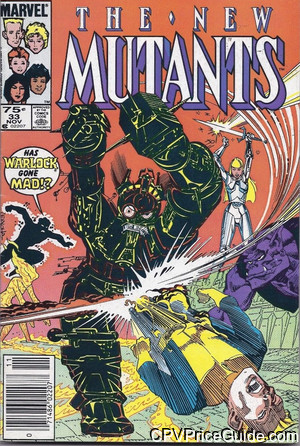 New Mutants #33 75¢ Canadian Price Variant Comic Book Picture