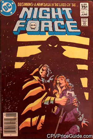 Night Force #11 75¢ Canadian Price Variant Comic Book Picture