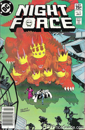 Night Force #12 75¢ Canadian Price Variant Comic Book Picture