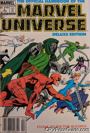 official handbook of the marvel universe vol 2 3 cpv canadian price variant image