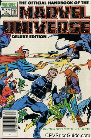 Official Handbook of the Marvel Universe Vol 2 #4 $1.75 Canadian Price Variant Comic Book Picture