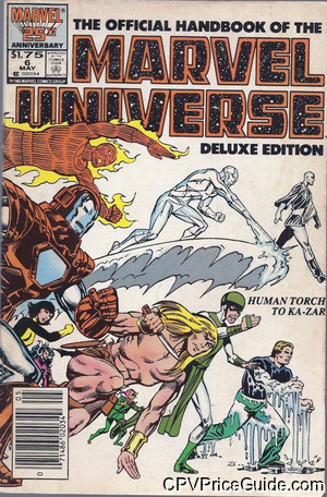 official handbook of the marvel universe vol 2 6 cpv canadian price variant image