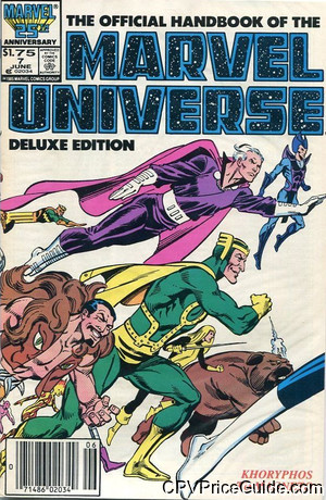 official handbook of the marvel universe vol 2 7 cpv canadian price variant image