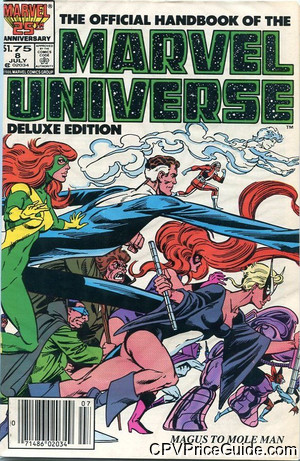 Official Handbook of the Marvel Universe Vol 2 #8 $1.75 Canadian Price Variant Comic Book Picture