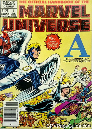 official handbook of the marvel universe 1 cpv canadian price variant image