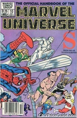 official handbook of the marvel universe 10 cpv canadian price variant image