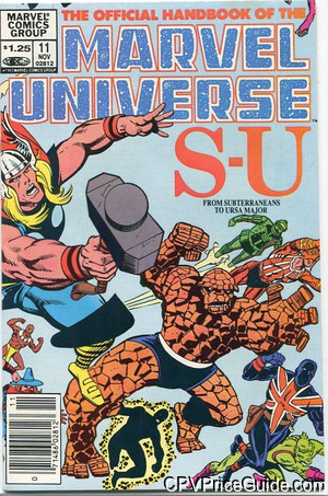 official handbook of the marvel universe 11 cpv canadian price variant image