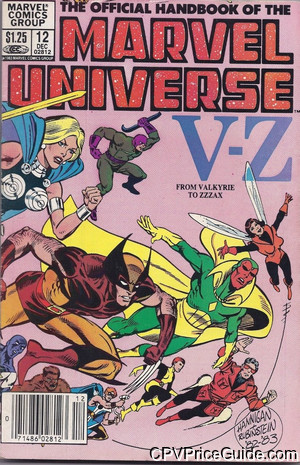 official handbook of the marvel universe 12 cpv canadian price variant image