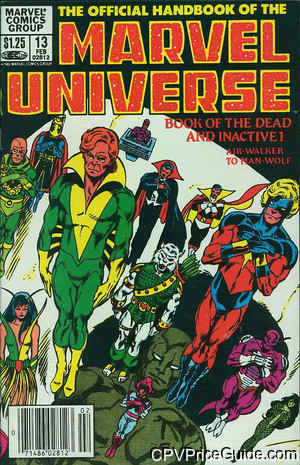 official handbook of the marvel universe 13 cpv canadian price variant image