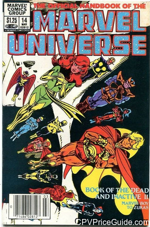 official handbook of the marvel universe 14 cpv canadian price variant image