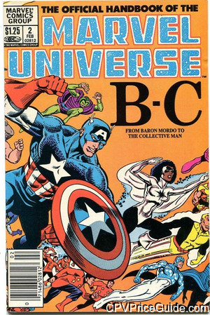 official handbook of the marvel universe 2 cpv canadian price variant image