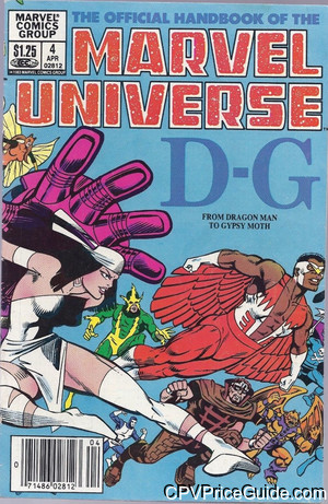 official handbook of the marvel universe 4 cpv canadian price variant image