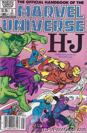 official handbook of the marvel universe 5 cpv canadian price variant image
