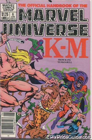official handbook of the marvel universe 6 cpv canadian price variant image