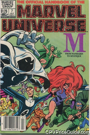 official handbook of the marvel universe 7 cpv canadian price variant image