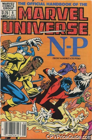 official handbook of the marvel universe 8 cpv canadian price variant image