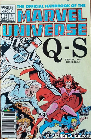 official handbook of the marvel universe 9 cpv canadian price variant image