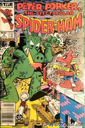 Peter Porker the Spectacular Spider-Ham #8 95¢ Canadian Price Variant Comic Book Picture