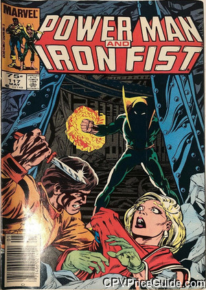 Power Man and Iron Fist #117 75¢ Canadian Price Variant Comic Book Picture