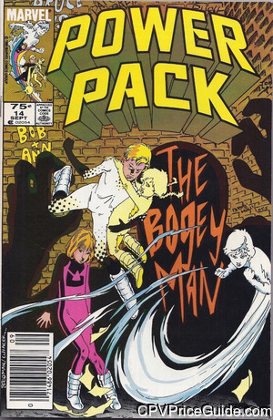 Power Pack #14 75¢ Canadian Price Variant Comic Book Picture