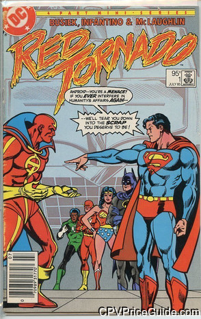 Red Tornado #1 95¢ Canadian Price Variant Comic Book Picture