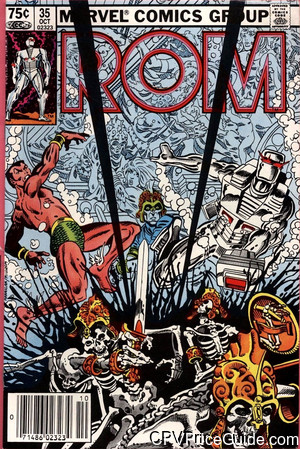 Rom Spaceknight #35 75¢ Canadian Price Variant Comic Book Picture