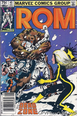 Rom Spaceknight #45 75¢ Canadian Price Variant Comic Book Picture