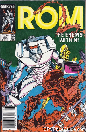 Rom Spaceknight #55 75¢ Canadian Price Variant Comic Book Picture