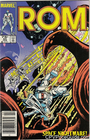 Rom Spaceknight #63 75¢ Canadian Price Variant Comic Book Picture