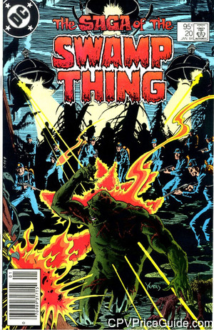 Saga of the Swamp Thing #20 95¢ Canadian Price Variant Comic Book Picture