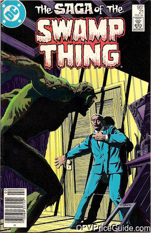 Saga of the Swamp Thing #21 95¢ Canadian Price Variant Comic Book Picture