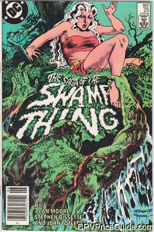 Saga of the Swamp Thing #25 95¢ Canadian Price Variant Comic Book Picture