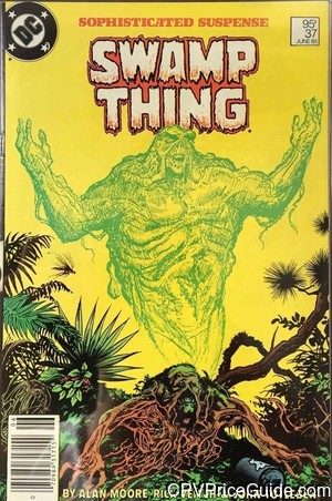Saga of the Swamp Thing #37 95¢ Canadian Price Variant Comic Book Picture