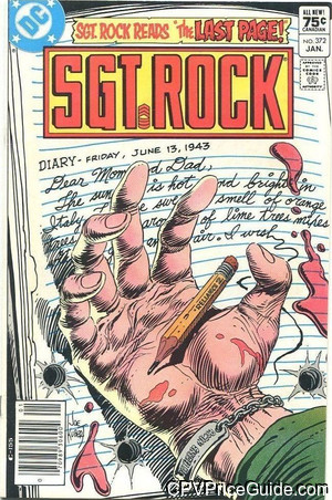 Sgt. Rock #372 75¢ Canadian Price Variant Comic Book Picture