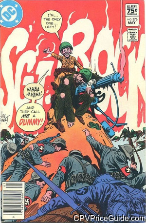 Sgt. Rock #376 75¢ Canadian Price Variant Comic Book Picture