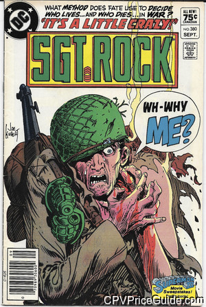 sgt rock 380 cpv canadian price variant image