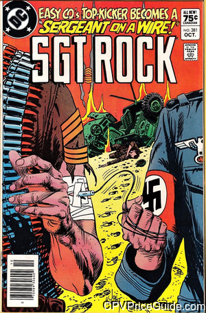 Sgt. Rock #381 75¢ Canadian Price Variant Comic Book Picture