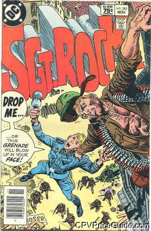 Sgt. Rock #382 75¢ Canadian Price Variant Comic Book Picture