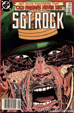 Sgt. Rock #384 95¢ Canadian Price Variant Comic Book Picture